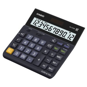 Casio DH-12TER-SK-UP 12 Digit Tax/ Euro Calculator