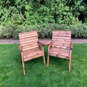 Charles Taylor 2 Seat Angled Twin Garden Chair Set