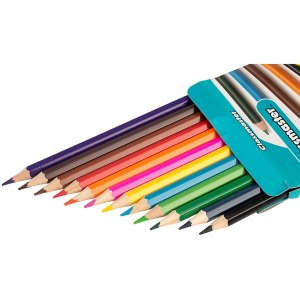 Classmaster Assorted Colouring Pencils Wallet Pack of 12