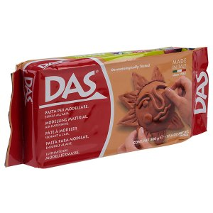 DAS 387100 Air Drying Modelling Clay 500g Terracotta