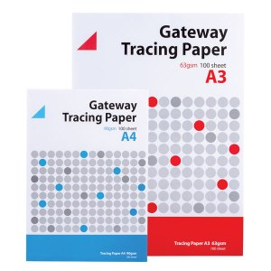 Gateway Tracing Paper Pad 63gsm A3 100 Sheets
