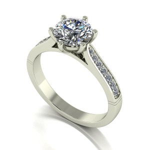 Lady Lynsey Moissanite 9ct White Gold 1.40ct eq Solitaire Ring