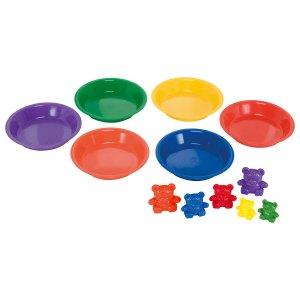 Learning Resources Three Bear Family Basic Six Colour Rainbow Set ...