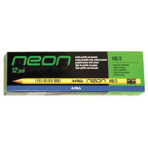 Lyra 1290100 Neon HB Fluorescent Pencils Box 12