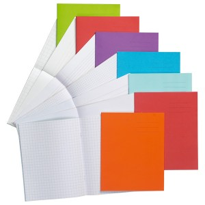 Rapid 8x6.5in Exercise Book Squared 5mm 80 Page Orange Box of 100