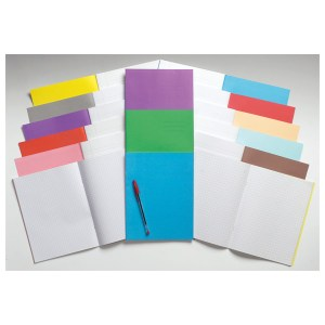 Rapid 9x7in Exercise Book Ruled 8mm & Margin 80 Page Pink Box of 100
