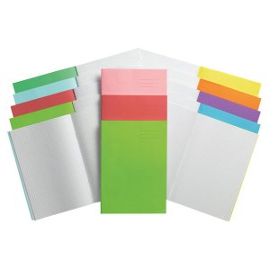 Rapid A4 Exercise Book Ruled 8mm & Margin 64 Page Yellow Box of 50
