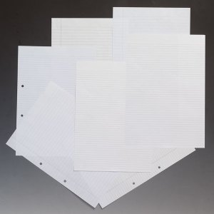 Rapid A4 Paper Ruled 8mm One Margins Corner Punched 75gsm 500 Sheets
