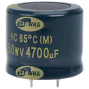 Samwha HC1H478M30025HA 4700uf 50V 85deg Hc Snap-in Capacitor