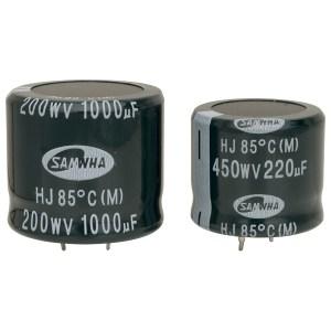 Samwha HJ2D477M30020HC 470uf 200V 85deg Hj Snap In Capacitor