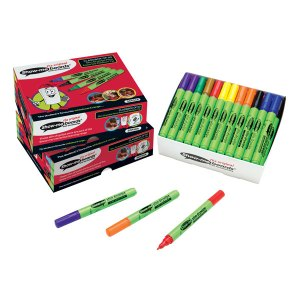 Show-Me Slim Barrel Drywipe Pens box of 50 Assorted