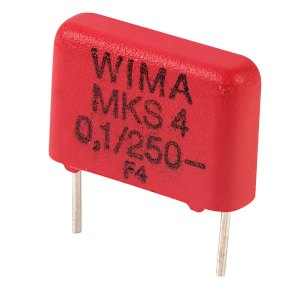 Wima MKS4F031003C00KS 100nF ±10% 250V 10mm Pitch Polyester Capacitor