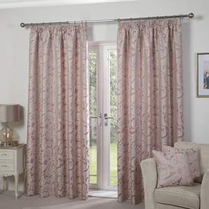 """Duchess Jacquard Lined Tape Header 66"""" Curtains"""