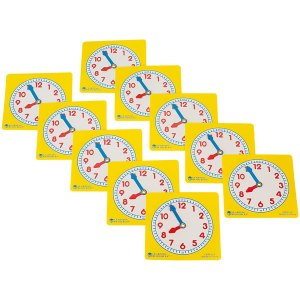 Learning Resources Pupil Clock Dials, Set Of 10