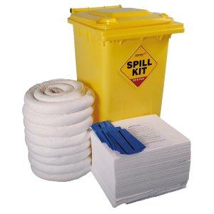 General Emergency Spill Kits - 240 litre Drum Large Workshop Kit - Green Bin