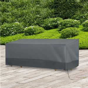 Outsunny 190x72cm Outdoor Garden Rattan Furniture Protective Cover Water UV Resistant