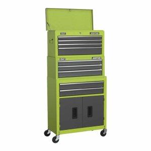 Sealey American Pro® ToolBox Stack in Hi-vis Green