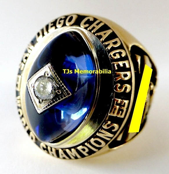 1963 SAN DIEGO CHARGERS AFC CHAMPIONSHIP RING
