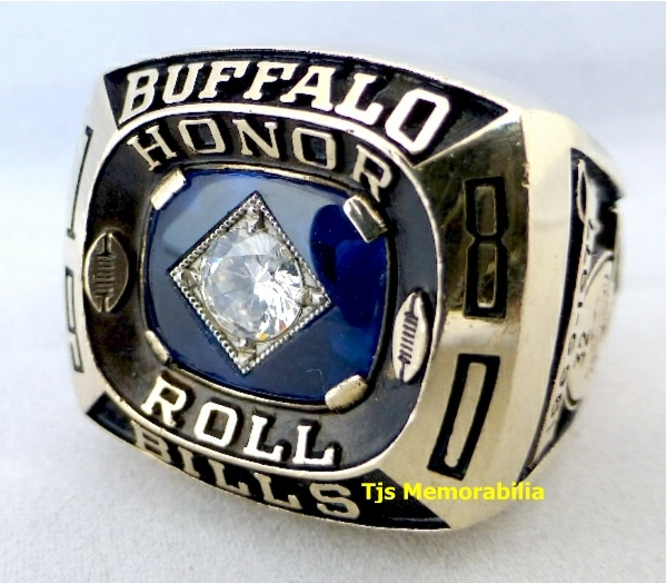 1980 OJ SIMPSON BUFFALO BILLS HONOR ROLL CHAMPIONSHIP RING