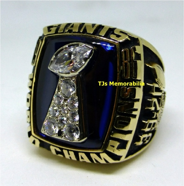 1986 NEW YORK GIANTS SUPER BOWL XXI CHAMPIONSHIP RING