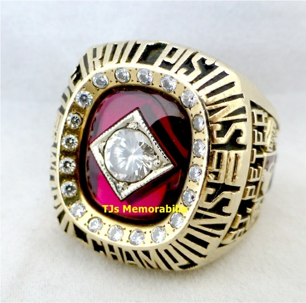 1990 DETROIT PISTONS BACK TO BACK NBA CHAMPIONSHIP RING
