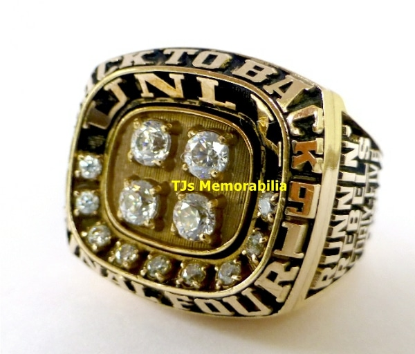 1991 UNLV RUNNIN REBELS BACK TO BACK FINAL FOUR CHAMPIONSHIP RING