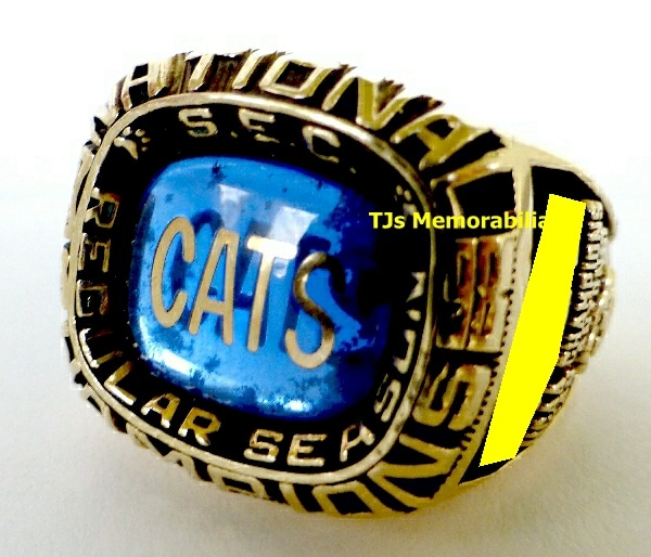 1998 KENTUCKY WILDCATS BASKETBALL SEC NATIONAL CHAMPIONSHIP RING