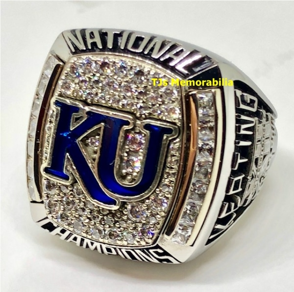 2008 KANSAS JAYHAWKS NCAA BASKETBALL NATIONAL CHAMPIONSHIP RING