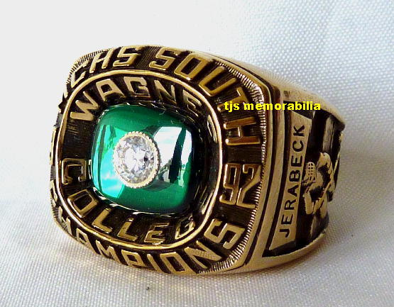 1992 WAGNER SEAHAWKS MCHS SOUTH CHAMPIONSHIP RING