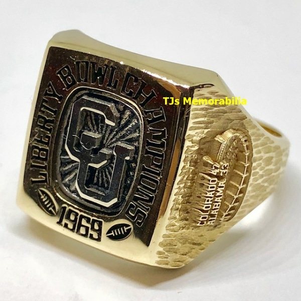 1969 COLORADO BUFFALOES LIBERTY BOWL CHAMPIONSHIP RING