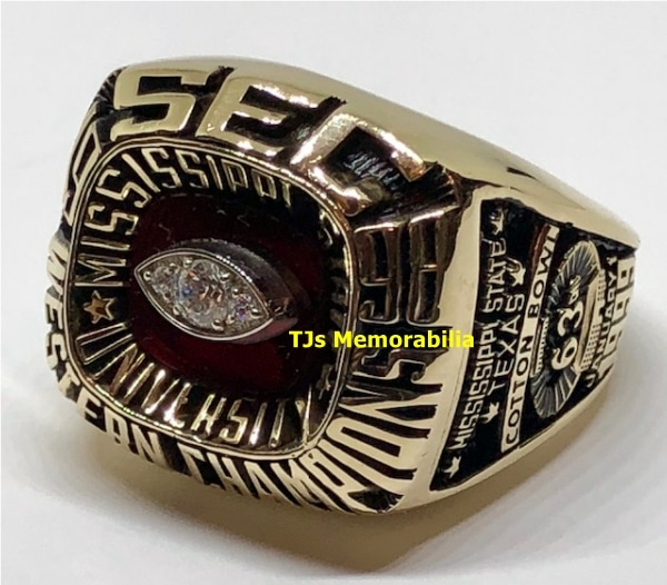 1998 MISSISSIPPI STATE BULLDOGS FOOTBALL SEC CHAMPIONSHIP RING