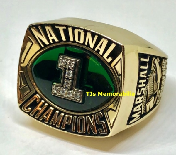 1992 MARSHALL THUNDERING HERD NATIONAL CHAMPIONSHIP RING