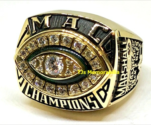 1998 MARSHALL THUNDERING HERD BACK TO BACK MAC CHAMPIONSHIP RING