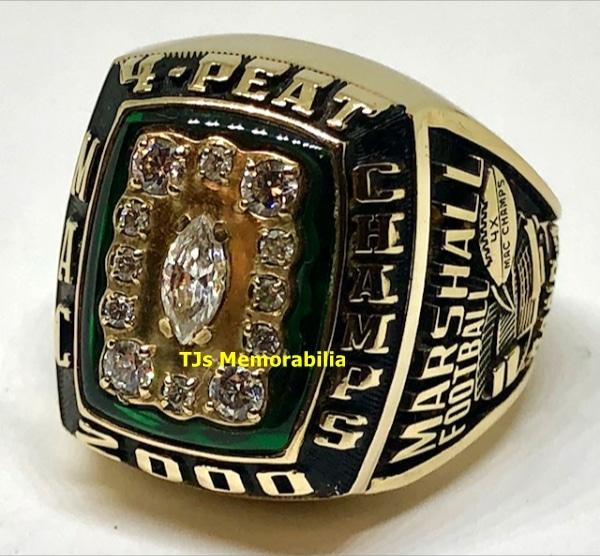 2000 MARSHALL THUNDERING HERD FOUR PEAT MAC CHAMPIONSHIP RING