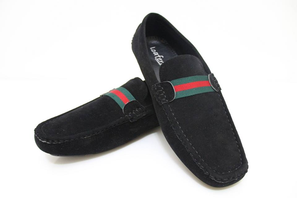 Gucci CASUAL LOAFER SHOES BLACK (Green