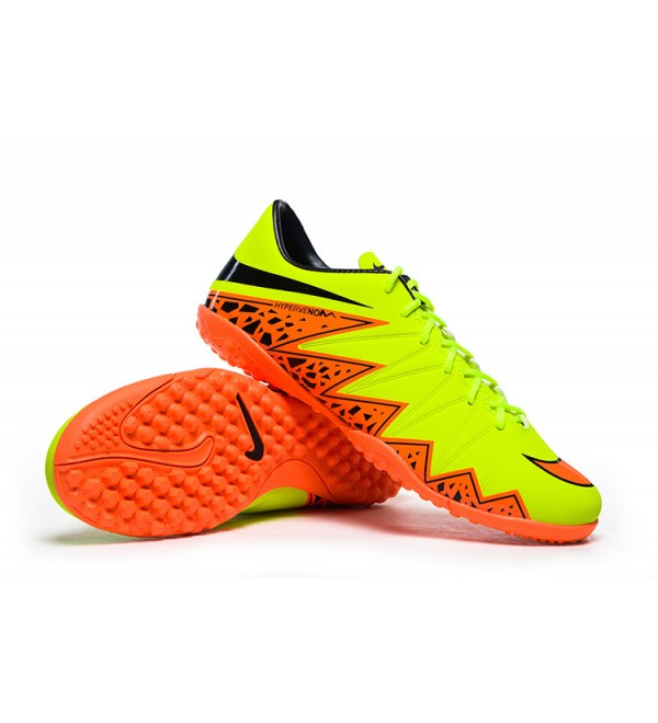 hot sale online 5806f 07260 2015 NIKE HYPERVENOM PHELON 2 TF FOOTBALL BOOTS YELLOW ORANGE BLACK - Buy  best