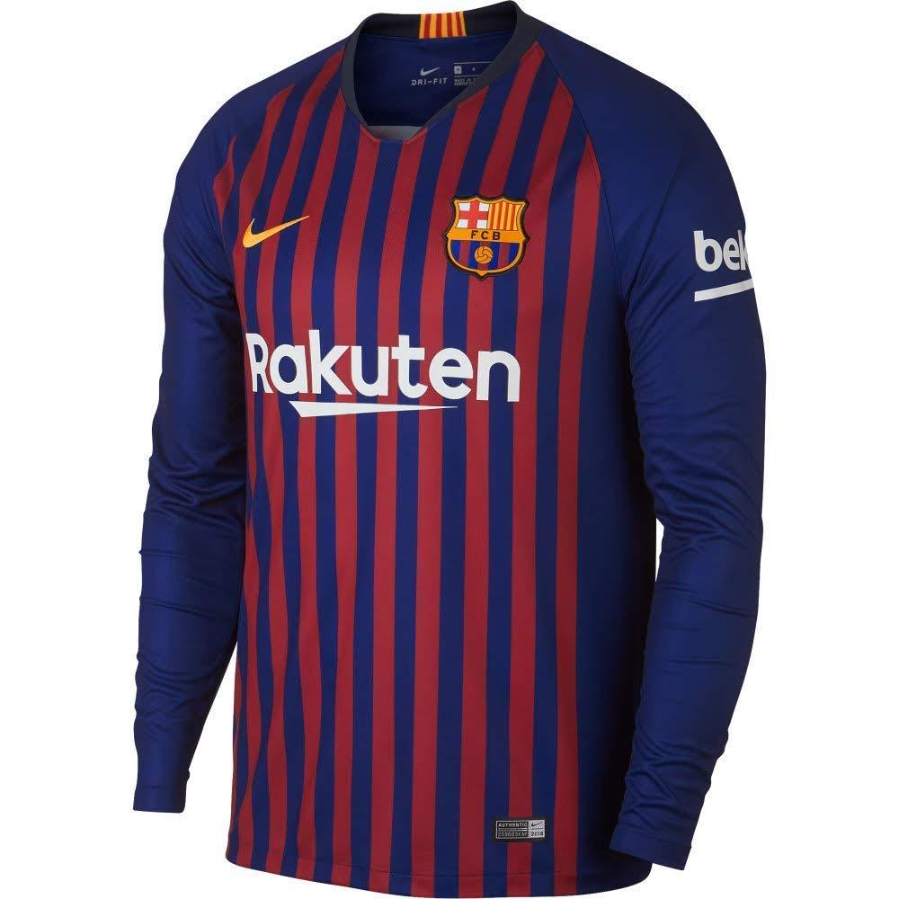 cheap for discount e27c0 ab1c9 2018-2019 Barcelona Home Long Sleeve Shirt - Buy best