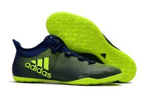 e94bda5859b Mens X Tango 17.3 Indoor Soccer Shoes Seaweed Dark Blue Volt Solar Yellow