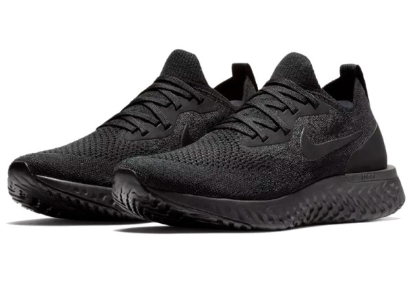 Black Epic React Flyknit Running Shoes