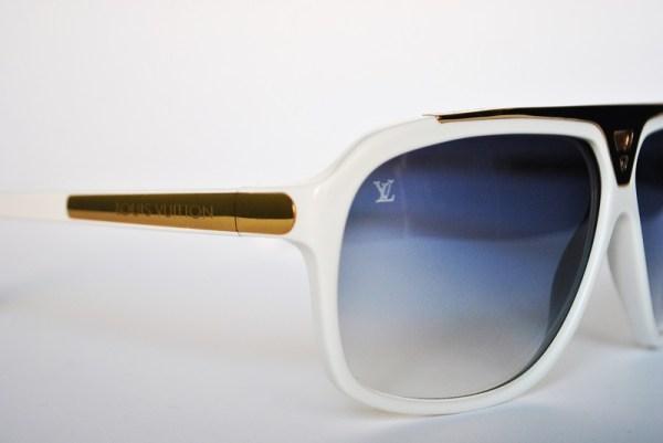 Louis Vuitton White Evidence Sunglasses Z0351W