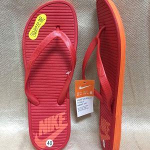 red orange flip flops