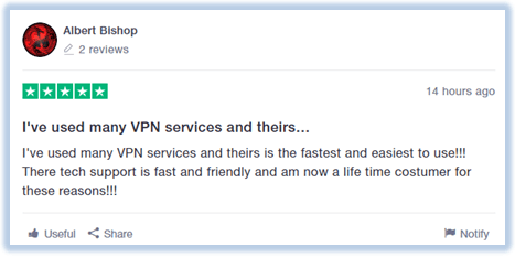 ExpressVPN-user-comment-Trustpilot