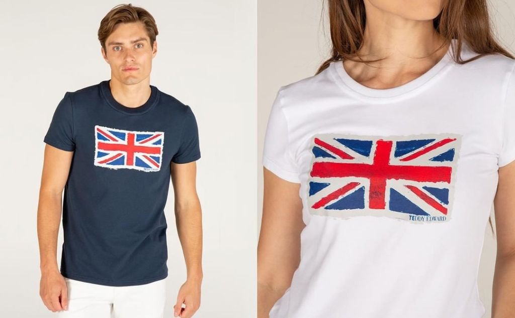 Teddy Edward Union Flag T-Shirt