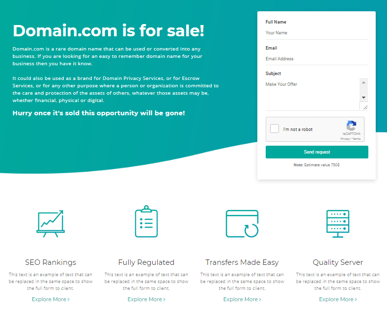 Domain Sales Page