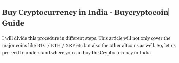 Stepwise Tutorial to guide How to Buy Cryptocurrency in India