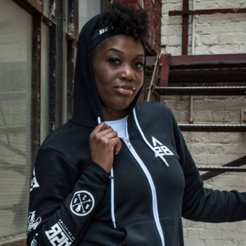 A2B Patchwork hoodie Queens