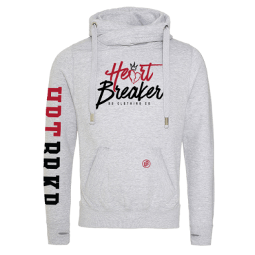 Heart Breaker cross neck hoodie