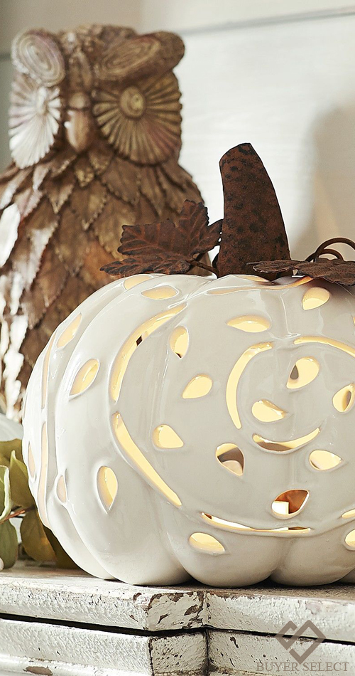 Porcelain Pumpkin Tea Light