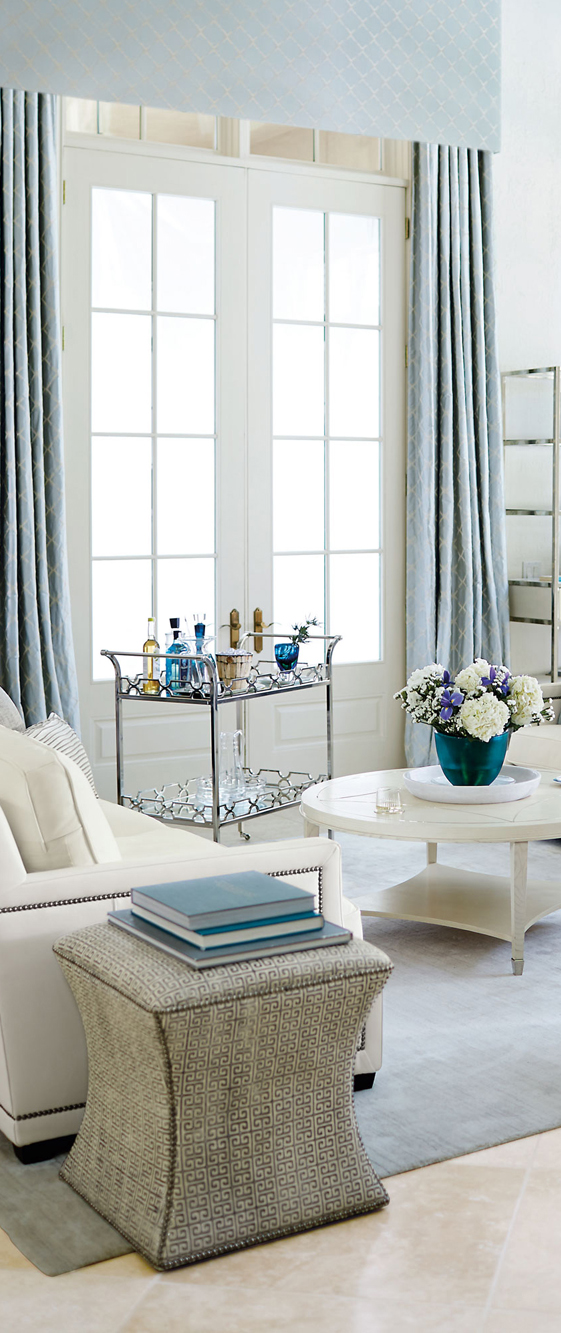 Living Room in Soft Shades of Blue