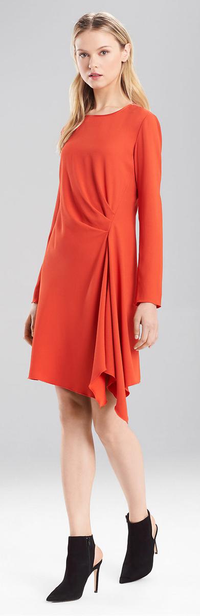 Josie Natori Back Crepe Dress